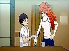 Teen anime åtnjuter fitta slickad