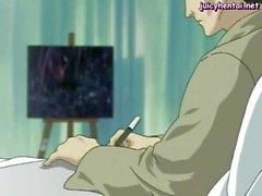 De chicas Anime queda gatito placer a