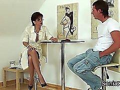 Unfaithful english milf lady sonia flaunts her oversized tit
