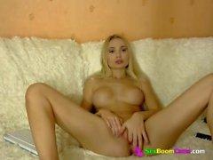Sexy russian girl MilanaMayer masturbates in private