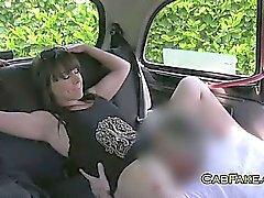 Mulher amadores fodido na de táxi
