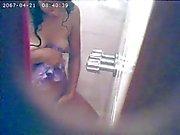 Betiana en la ducha