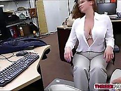 Massives Brüste auf Office Schönheits- und BJ