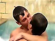 Teens Having Fun By The Pool