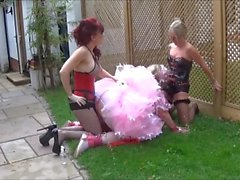 Angelca spitroasted by Madame C and Mistress Meena