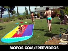 Slip and slide can mean two things