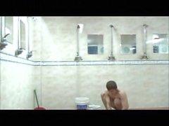 asiatet för kollektiva dusch