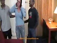 Sexy kypsä amatööri vaimosi interracial aisankannattaja ryhmäseksistä