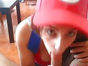Mario Bros Cosplay Blowjob by LustyPink