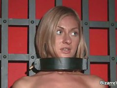 Horny and kinky blond Greta stripping