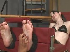 Toedtied Goth Girl Tickled