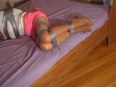 tape up on bed