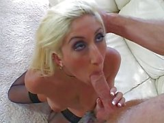 Blond Jessika taking it in her tight asshole