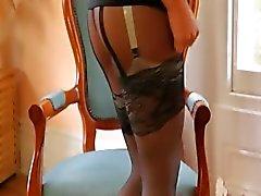 Zwarte lingerie en super broek