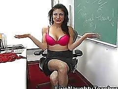 Iso rinta opettaja leluja hänen ajeltu muff