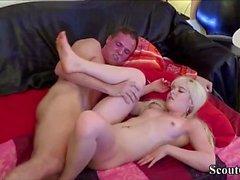 Deutsch Freundin Teen in Real Amateur Creampie Sex-Tape-