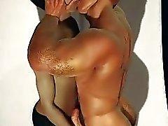 En 3D del músculo de Boys Love martillos y de eyaculación !