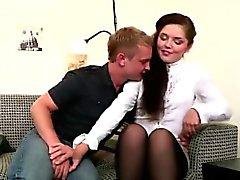 Tonåring för par Fritids Födelse Vrid Rough soffa sexkameror