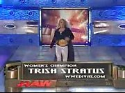 Trish Stratus vs Stacy Keibler Bra&Panties Paddle On A Pole Match
