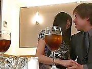 Чика Исихарой получает сливками после дикой трахают выставке