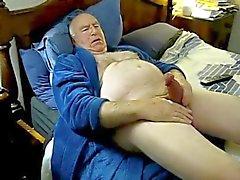 Horn pappa Cum på säng