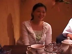 Hot Asian girl with nice tits takes a deep fucking and gets