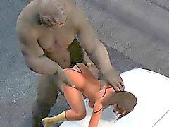 Bastante bebé superhéroe de 3D se la follan duro por que un troll