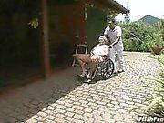 Galen gammala brasiliansk farmor slampa !