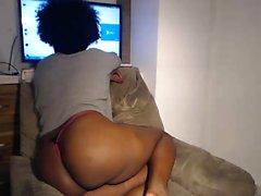 Big tit ebony amateur solo nude hidden video