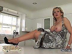Adulterous british mature lady sonia reveals her massive hoo