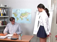 Bad college girl Lucy Lee getting spanked