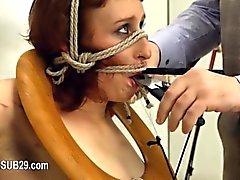 Estrema di BDSM WC del Hooker fottuto anally dura