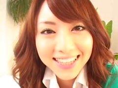 Japanilainen tyttö Lasi nuoleminen 1