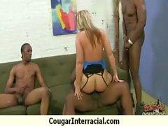 Cougar fucks a huge black monster cock 16