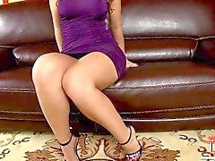 Painostava Eve violetti villapaita !