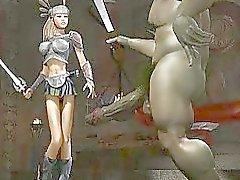 Monstros estranhos Foda Babes 3D!