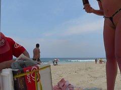novinha bikini takılmış FIO diş alın cameltoe praia