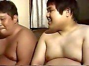 Азиатского папа Chubby геем
