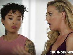 CrushGirls - Cherie Deville teaches sex to her stepdaughter