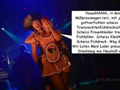 Lateks hizmetçi Luder pressen scheiss Transvestitenschwen im Müllpresswagen tot