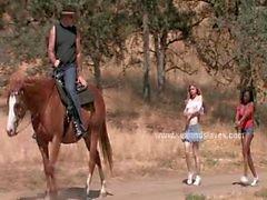 Women slaves at ranch tied