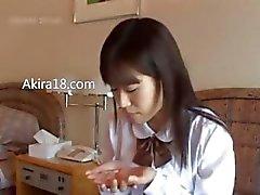 Tokyo Schoolgirl gerçekten sert çarptım