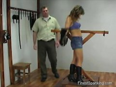 Blonde Striped And Flogged
