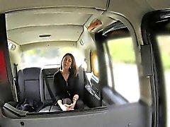 taksi içinde milf için sticky fasyal döl