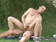 Michel Bittencourt - Yummy Outdoor Gay Sex With An Uncut Cock