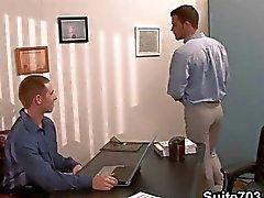 Gay kontor för kåta twinks