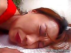 Asiatiska rödhårig tonåring raggas upp för part1