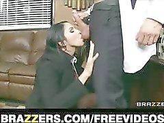 Submisso auxiliar de escritório Missy Martinez finalmente fode seu chefe