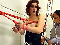 Ad gran parte della corda e massima di BDSM cazzo remissivo