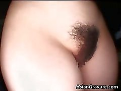 Seksikäs brunette aasian hottie karvaisia Part4